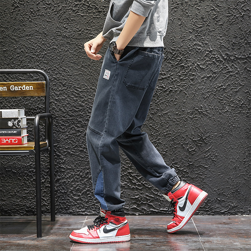 Japanese-style Retro Hong Kong Style Popular Brand Japanese-style Retro Fashion Man Straight-Cut Cowboy Casual Pants Large Pocke