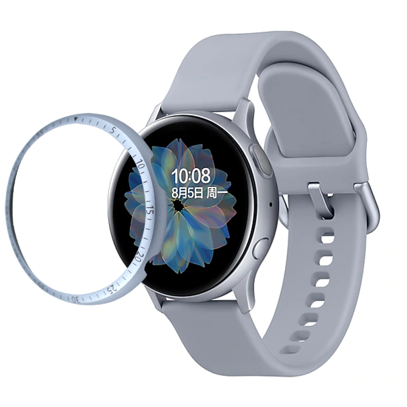 Case For Samsung Galaxy Watch active 2 40mm 44mm Protector Bezel Ring Accessories Adhesive Metal Bumper Cover Active2 40 44 mm