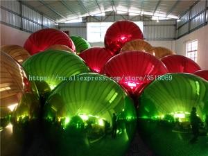 Большой надувной зеркальный шар для коммерческой рекламы, доступны разные цвета и размеры