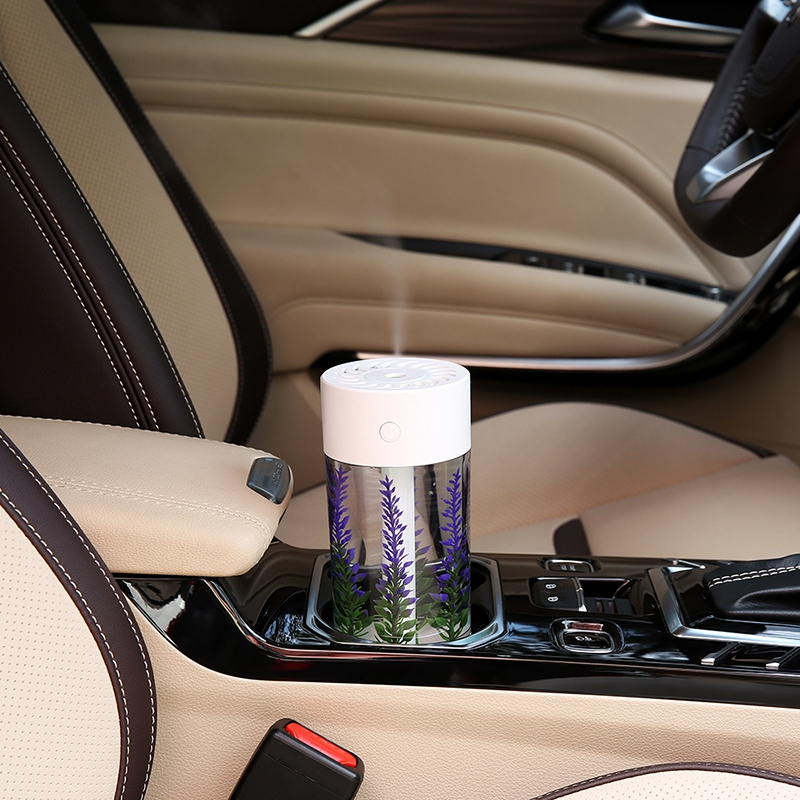 360Ml Air Humidifier Lavender Landscape Usb Mini Car Humidifier Portable Aromatic Oil Diffuser 7 Color Change Lamp USB Humidifie title=