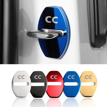 4 pçs fechadura da porta do carro capa protetora caso adesivo para vw polo cc golf 7 6 bora tiguan passat scirocco acessórios do carro