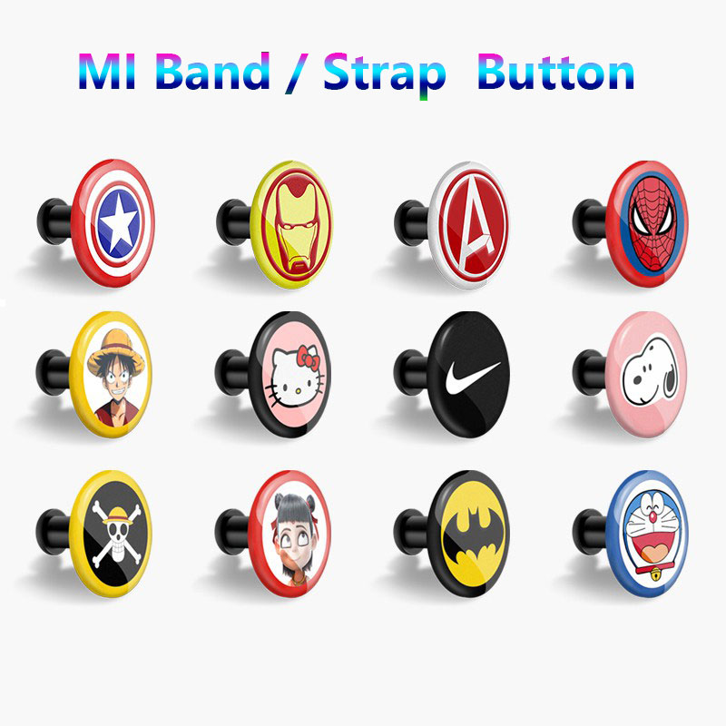 Button Bracelet For Xiaomi Miband 4 3 2 Mi Band 4 3 2 1 Strap Pattern Buckle Miband 4 Limited Edition Wrist Strap Accessory