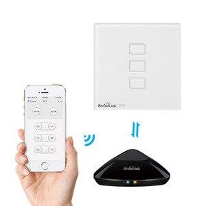 Image 5 - Broadlink TC2 1/2/3 Gang EU Standard Новый выключатель света современный дизайн белая сенсорная панель Wifi беспроводное умное управление через RM Pro