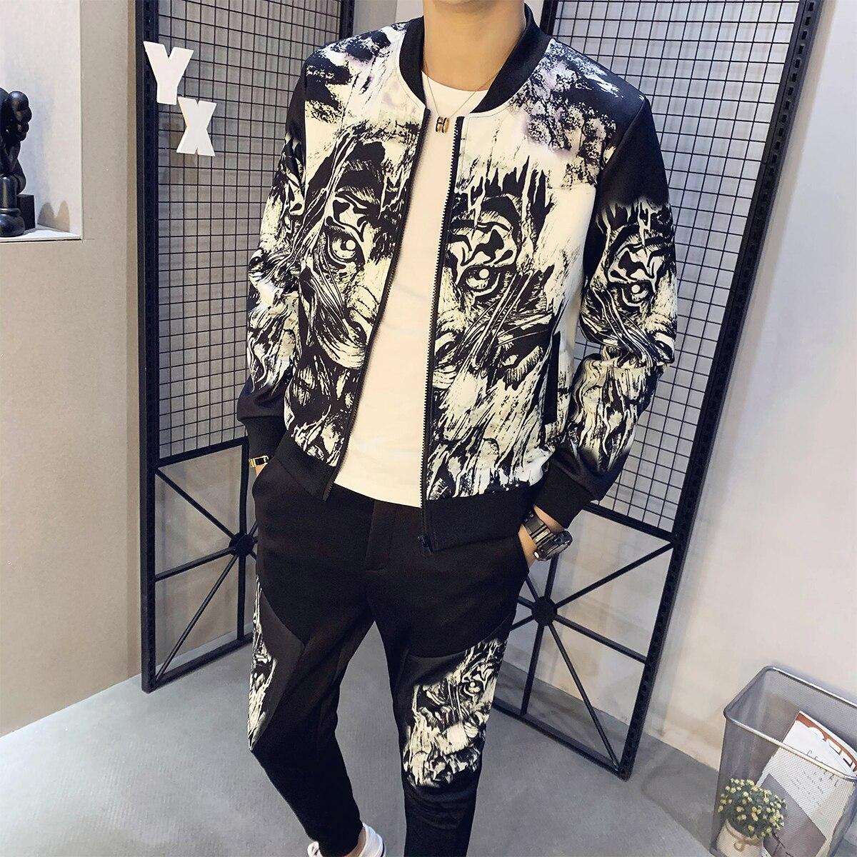 Spring Man Sport 2 Piece Sets Jacket + Pants Chandal Hombre Tracksuit Men Moda Hombre Ropa De Hombre Ropa Hombre 2020 Men's Set