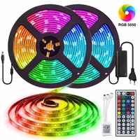 2pcs 10m 300 LED Strip Light SMD5050 RGB tape light IR WIFI Controller Ribbon Flexible Stripe Lamp Decoration IP65 Waterproof