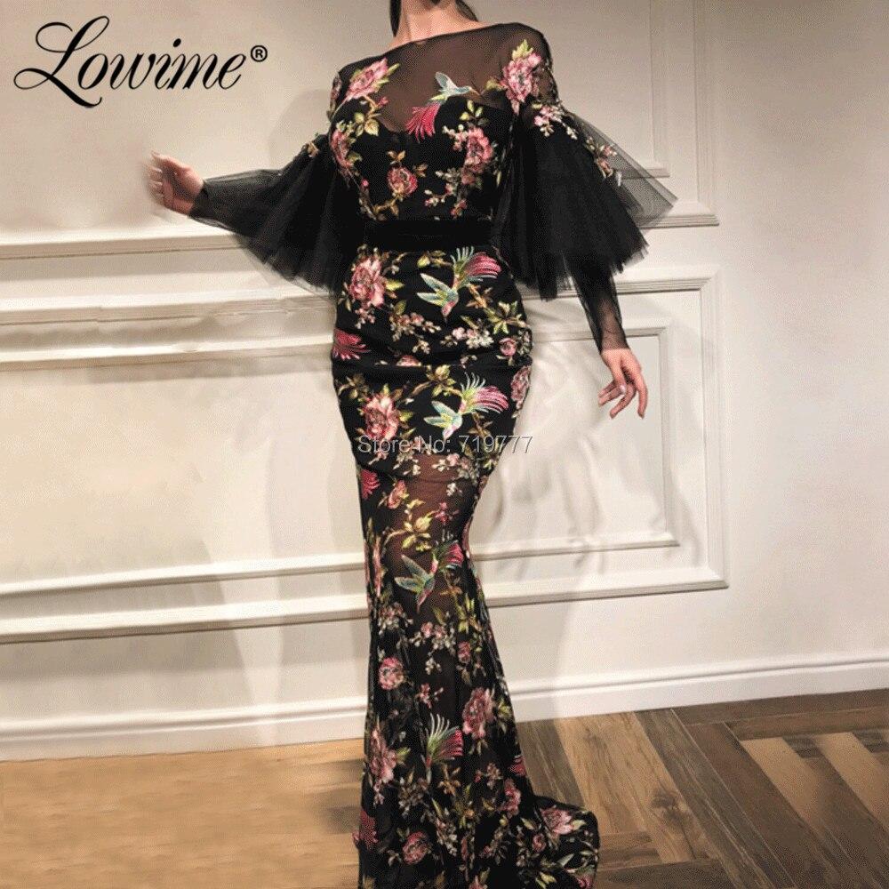 Black Arabic Evening Dress 2019 Vestidos De Festa Mermaid Evening Party Dress Abendkleider Prom Dresses Kaftans Robe De Soiree
