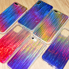 Colorful Gradient Line Laser Holographic Case for Samsung Galaxy