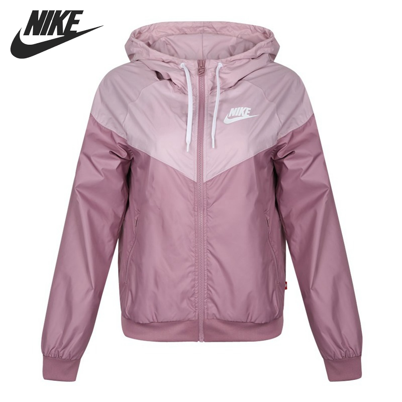 Original New Arrival NIKE Windrunner Women's Jacket Hooded Sportswear AR3093-515