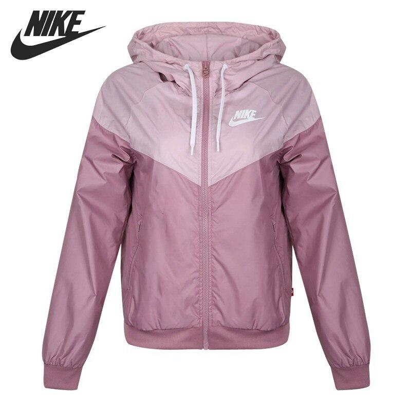 Original New Arrival NIKE Windrunner Women's Jacket Hooded Sportswear AR3093-515