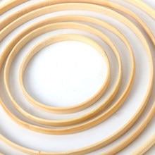 1/5 sztuk wystrój domu bambusa pierścień drewniane koło okrągły Catcher DIY Hoop dla wieniec kwiatów dom roślina ogrodowa wystrój wiszący kosz