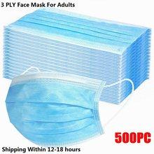 Máscara Médica Quirúrgica desechable, mascarilla transpirable de 3 capas con elásticos, 5/500 Uds.