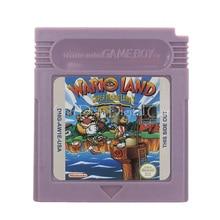 Para nintendo gbc vídeo game cartucho console cartão super mari land 3 versão em inglês