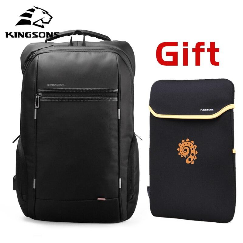 Kingsons 15 cal plecaki na laptopa USB ładowania Anti Theft plecak męski plecak podróżny wodoodporne torby szkolne mężczyzna Mochila w Plecaki od Bagaże i torby na  Grupa 1