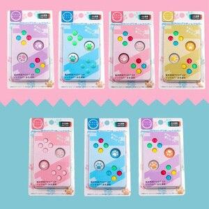 Image 1 - ABXY tuş Sticker Joystick düğmesi Thumb çubuk kavrama kap koruyucu kapak Nintendo anahtarı NS Joy con denetleyici renkli kılıf