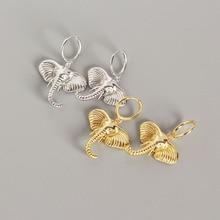 Top Selling 100% S925 Sterling Silver Animal Elephant earrings women Drop party jewelry Xmas Gift