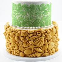 Lovely Conch Starfish Shell Fondant Cake Silicone Mould Cake Surrounding Decoration Silicone Mould DIY Baking Tools