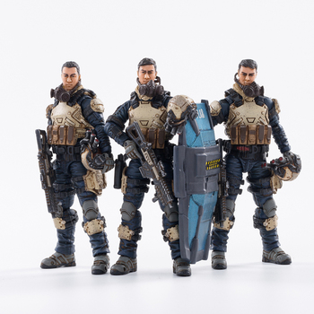 (3PCS/Set) JOYTOY 1/18 action figures Starhawk 8th Army Indigo Fleet military soldier figure model toys collection toy 1 6 scale movable 3 style 12 swat black uniform military army combat game toys soldier set action figure model toys