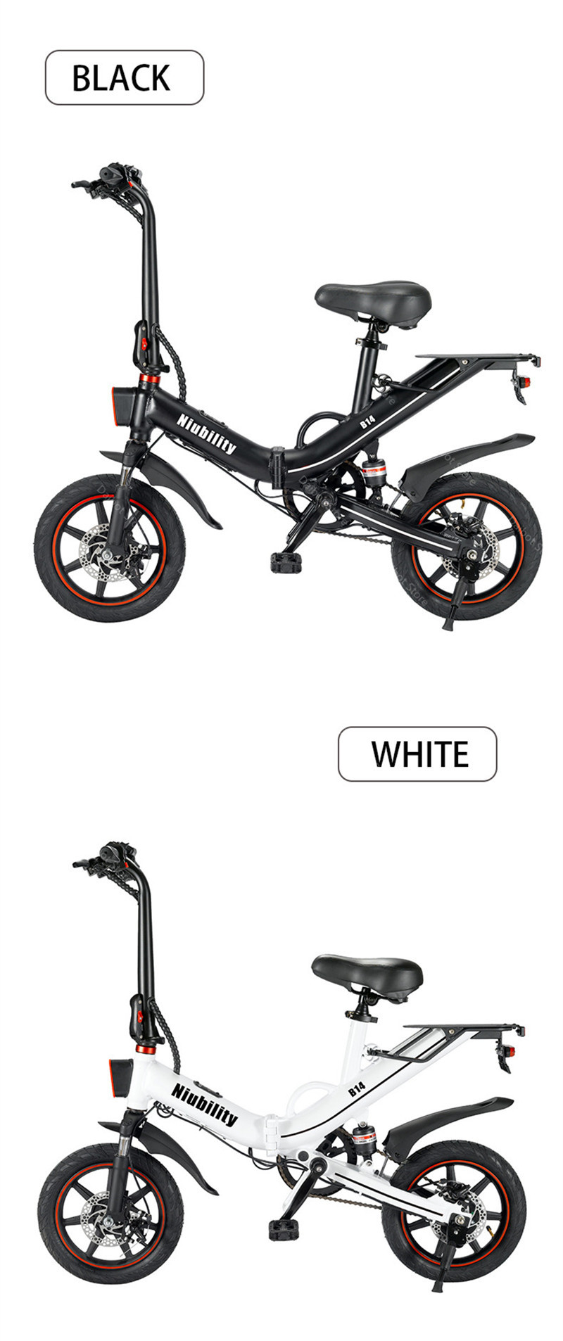 EU Stock Folding Electric bike 2 Wheels Electric Bicycles 14 Inch 400W 48V 15Ah Adult Electric Bicycle With Double Brake (18)