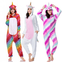 Winter Unicorn Pajama Sets Cartoon Sleepwear For Adult Women Pijama Flannel Animal Stitch Licorne Kigurumi Pyjamas