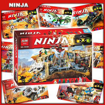 8types 2016 Ninja Theme Ultra Stealth Raider Samurai X Cave Mech Lighthouse Model Building Block Child Toy Compatible With 1