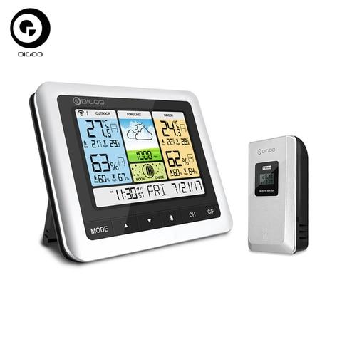 Sensor sem Fio Previsão ao ar Digoo Termômetro Higrômetro Estação Meteorológica Casa Usb Livre Relógio Dg-th8888 Pro