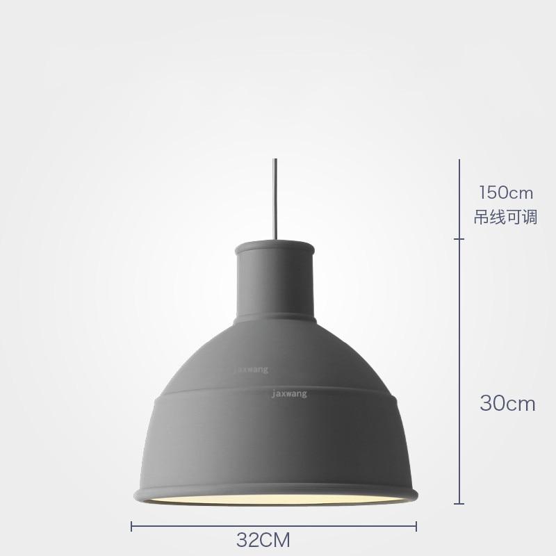 Новинка, подвесной светильник в скандинавском стиле, для столовой, макарон, s, смоляный светильник, светильники, кухонные подвесные лампы, подвесной светильник для гостиной, светодиодный, внутреннее освещение - Цвет корпуса: Grey 32CM