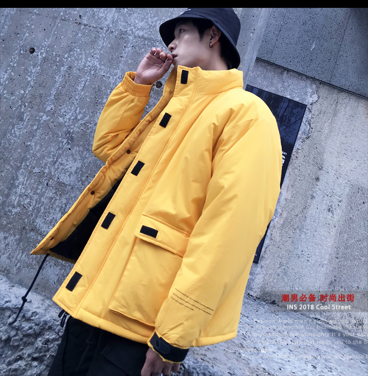 Men's Quality Student Winter Clothes Jacket Men Parka Thick Warm Outwear Korean Youth Streetwear Hip Hop Japan Style Harajuku 17