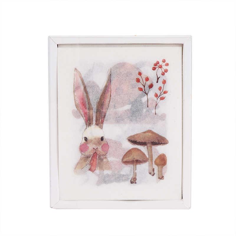 Mignon fille plante vie inscriptible balle Journal décoratif Washi autocollants Scrapbooking bâton étiquette Journal papeterie Album autocollants