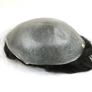 Image 5 - Stock Parrucche dei capelli Umani Per Gli Uomini toupee degli uomini Dei Capelli Top Pezzo Super Sottile Parrucchino Pelle Peruviana Dei Capelli di Remy Confortevole mens Parrucca