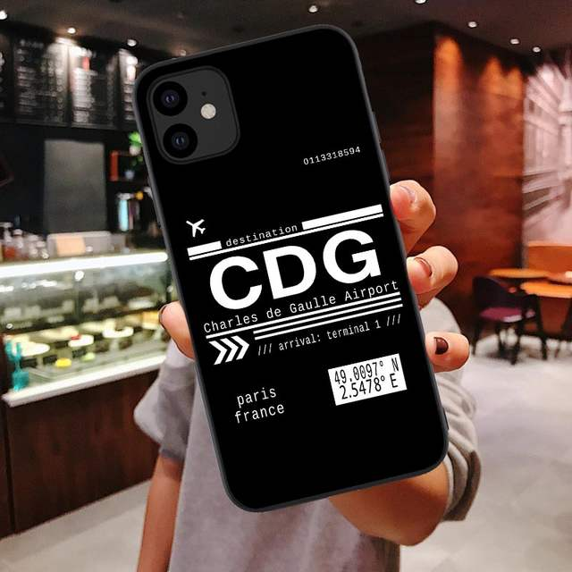 CDG Charles de Gaulle Airport Paris France Call Letters iphone 11 case