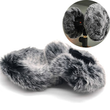 3DIO 무료 공간을위한 3DIO HeadRec 레코더 용 마이크 윈드 스크린 ASMR 용 Binaural Mic Outdoor Fur Dead Cat 모피 앞 유리