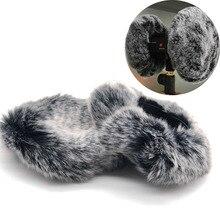 Protector de viento con micrófono para 3DIO, grabadores para 3DIO Free Space, Binaural Mic Outdoor Fur para ASMR Dead Cat Furry Windscreen