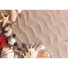 Starfish Shell Conch Welligkeit Sand Foto Hintergründe Individuelle Photo Hintergrund für Kinder Baby Spielzeug Fotografie Requisiten Foto shooting
