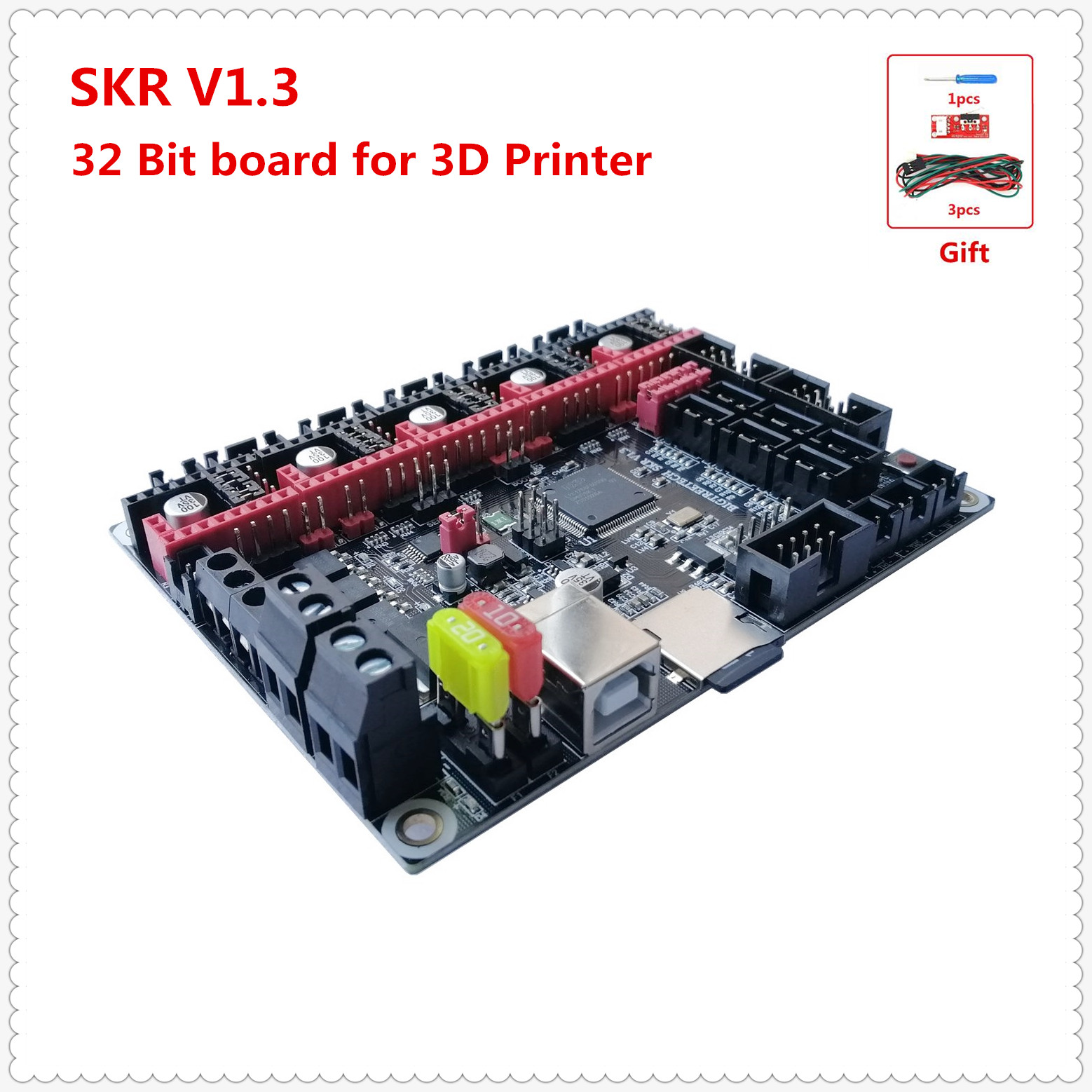 3D Printer ARM 32-bit CPU Motherboard BIGTREETECH SKR V1.3 Control Plate Smoothieboard Marlin 2.0 3d Printer Upgrade Board