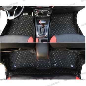 цена на lsrtw2017 leather car floor mats for kia rio x line kx cross 2017 2018 2019 2020 mat interior accessories carpet foot auto