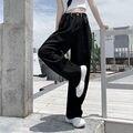 Новинка 2021, прямые свободные джинсы с высокой талией, уличная одежда, широкие брюки, женские модные облегающие драпированные брюки hyuna
