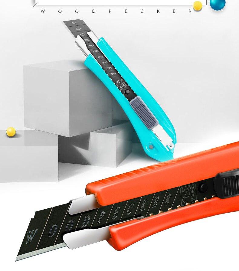 Utility Knife Cutter Wood Box Paper Cutter Auto Lock SK5 Metal Stationery Utility Craft Knife Cutter Cutting Non-slip Knife