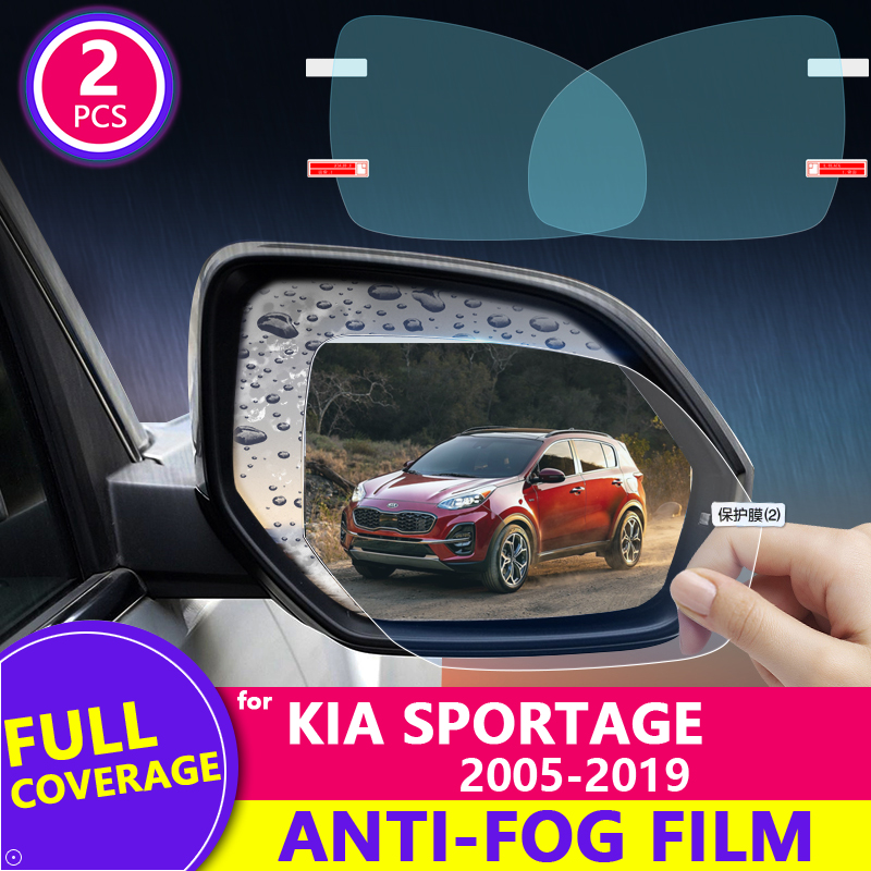 Full Cover Rearview Mirror Anti Fog Film for Kia Sportage 2005~2019 JE KM SL QL Protective Rainproof Films Car Accessories 2018 image