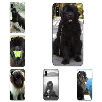 TPU de Terranova perro hermoso gigante para Apple iPhone 11 X XS X Max XR Pro Max 4 4S 5 5S SE 6 6S 7 8 Plus