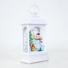 Newest Christmas Hanging Lamp Santa Claus Deer Snowman Light Home Garden Decoration
