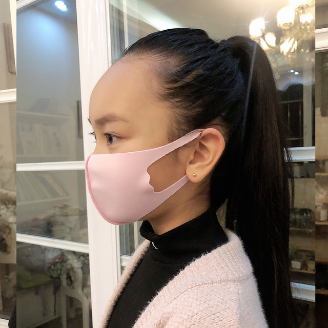 Nano-polyurethane Black Mouth Mask Anti Dust Mask breathable and washable for children Bacteria Proof Flu Face Masks 3