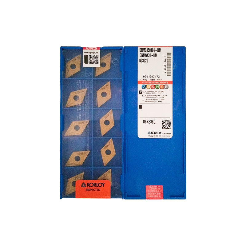 DNMG150404-HM NC3020 100% KORLOY Original Carbide Insert With The Best Quality 10pcs/lot Free Shipping