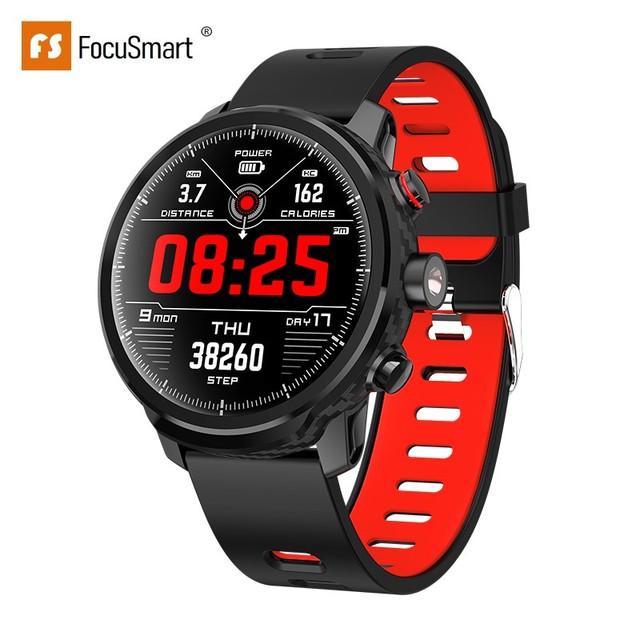 FocuSmart L5 Smart Watch Men 1.3 Inch IP68 Waterproof Sport Smartwatch Activity Tracker Passometer Smart Watch for IOS Andriod
