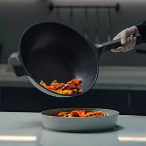 Image 5 - Huohou שאינו מקל סופר פלטינה ווק מחבת Stockpot מחבת חלב עמיד קל נקי גבוהה טמפרטורת תזכורת מטבח כלי בישול