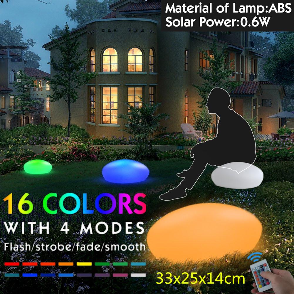 High Quality Solar Light Lamps New Swimming Pool Ball Cobble Stone Lamp Light LED Solar Lighting Solar Lighing Garden Decoration