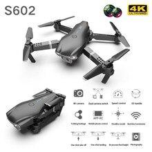 S602 rc zangão 4k profissional 1080p 720p câmera hd wifi fpv fotografia aérea dobrável quadcopter altura hold dron brinquedos para o menino