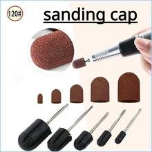 1 peça de corte de bocados de prego broca lixar bandas tampa para cortes de cabelo pedicure manicure lixar para pedicure lixar