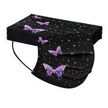 Masques faciaux papillon pour adultes, 20 pièces, 3 Capas pour femmes, noël, Sport