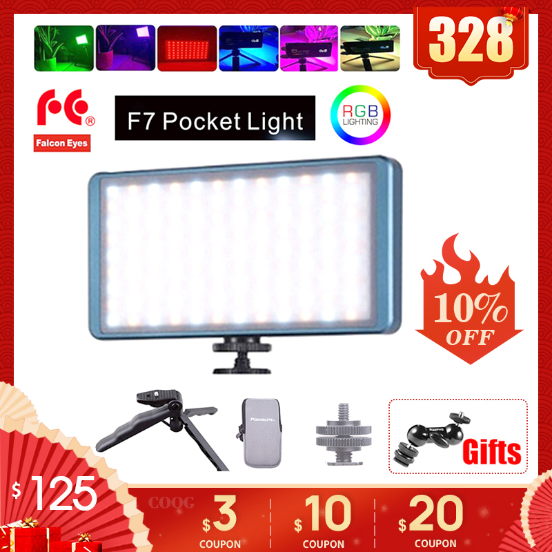 Live Video vs Boling BL-P1 2500K-9000K Adjustable Multiple Scenario Mode 0-100/% Stepless Dimming Falconeyes F7 RGB Led Pocket Fill Light Built-in Battery for Vlog OLED Display CRI:97 Youtube