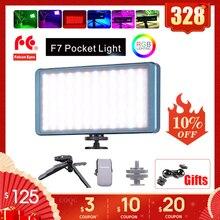 FalconEyes F7 RGB Light LED Lamp Selfie On Camera 16Effects Film Photo Photography Video Lighting 12W PK Boling Aputure MC